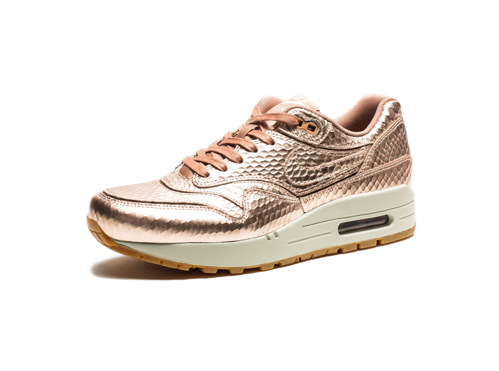 nike air max in rose gold python