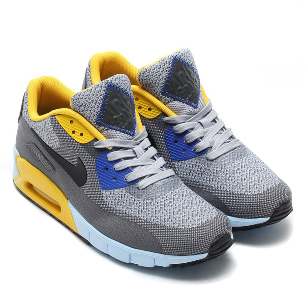 NIKE AIR MAX 90 JCRD CITY QS WOLF GREY/BLCK-VVD SLFR-GM RYL Nike Air Max 90 Jacquard City QS Color: Wolf Grey/Black-Vivid Sulfur-Game Royal Style Code: ...